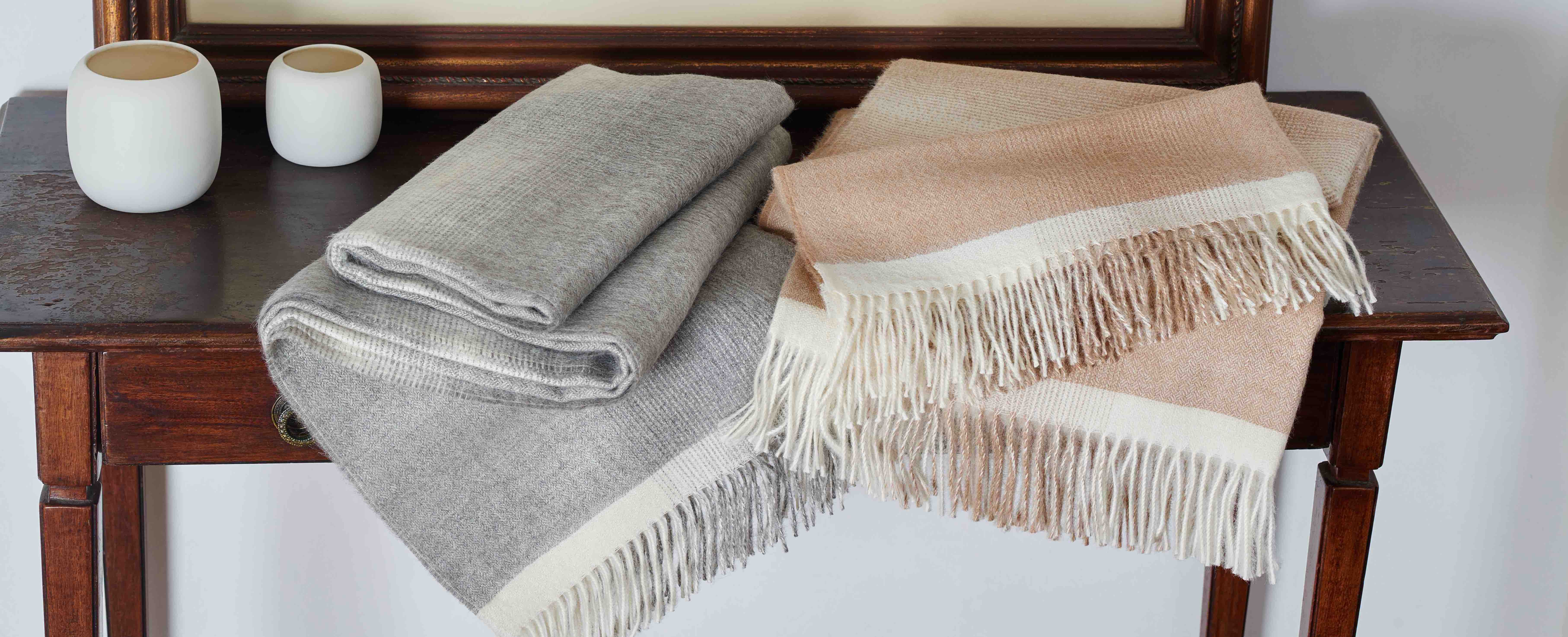Alpaca Blankets & Throws - Home Line